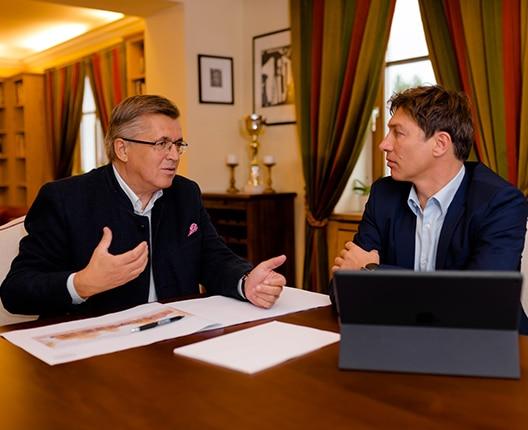 Nationalratsabgeordneter Fritz Grillitsch und Helmut Mitterfellner