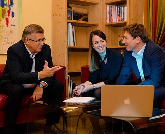 Unternehmenskommunikation - Fritz Grillitsch, Theresa Grillitsch und Helmut Mitterfellner